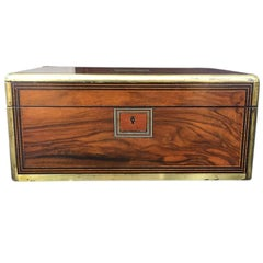 19th Century Rosewood Writing Box with Secret Compartment