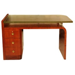 Rare Rosewood Desk by Jacques Adnet, circa 1930
