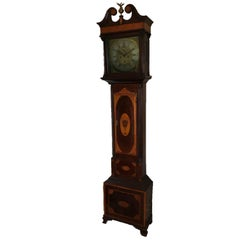 Irish Inlaid Sheraton Period Longcase Clock by Barnaby Vizer of Dublin