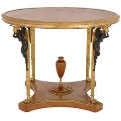 Antique Ormolu Mounted Centre Table by Zwiener Jansen Successeur