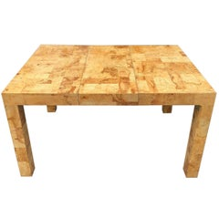 Signed Mid-Century Paul Evans Burl Patchwork Dining Table