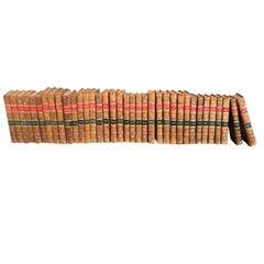 Group of 36, circa 1816-1828 Leather Bound Novels from Edinburgh, Scotland