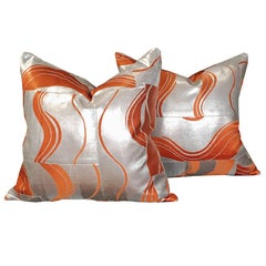 Pair of Pillows made from Vintage Japanese Obis