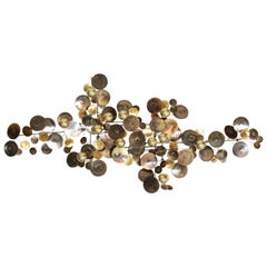 "Curtis Jere Brass ""Raindrops"" Wall Sculpture"
