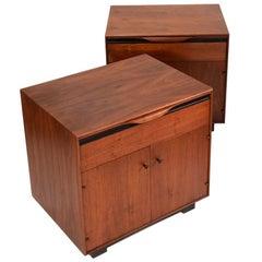 Pair of John Kapel Nightstand Cabinets for Glenn of California
