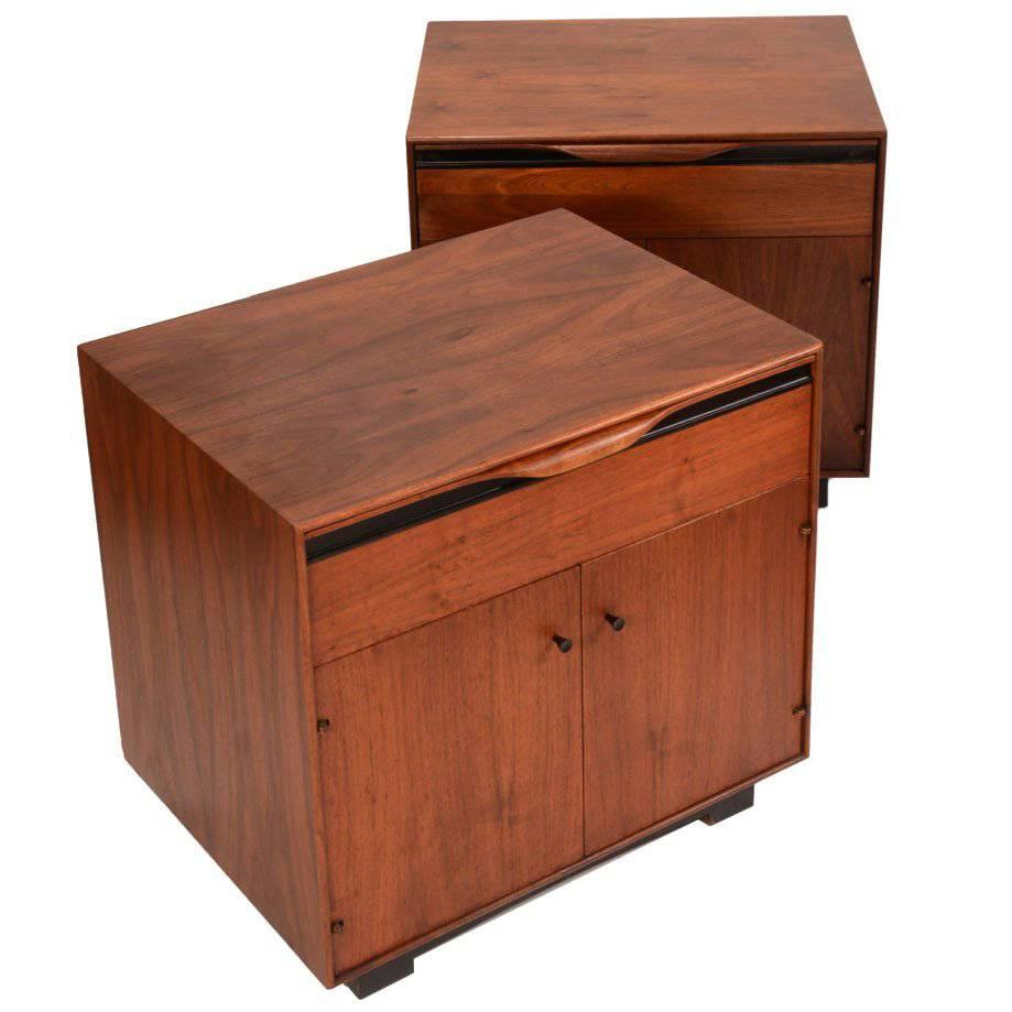 Pair Of John Kapel Nightstand Cabinets For Glenn Of California
