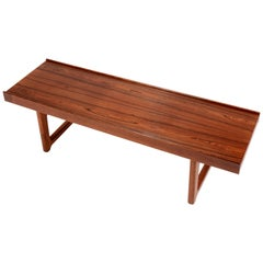 "Torbjorn Afdal for Bruksbo Norway ""Korbo"" Bench in Rosewood"
