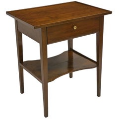 18th Century French Cherrywood Tray Table with Single Drawer and Lower Shelf