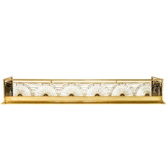 Thomas Jeckyll Brass Fireplace Fender