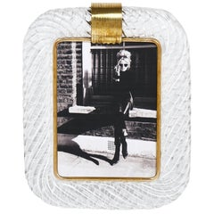 Vintage Murano Glass Photo Frame Attributed to Venini