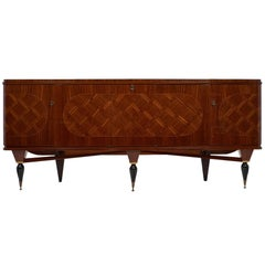 Modernist Rosewood Vintage French Buffet