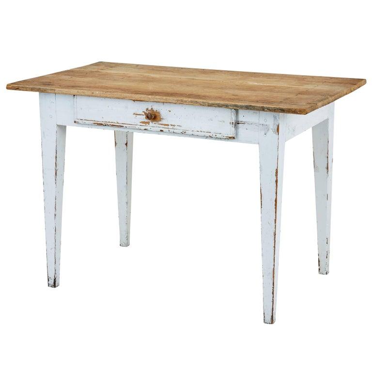 19th Century Swedish Pine Kitchen Table