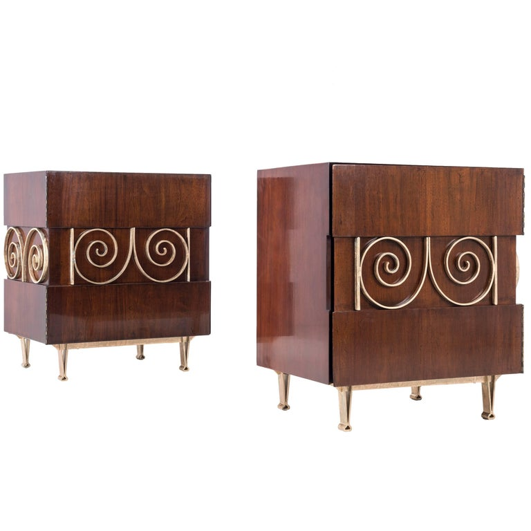 Edmund Spence Pair of End Tables or Nightstands