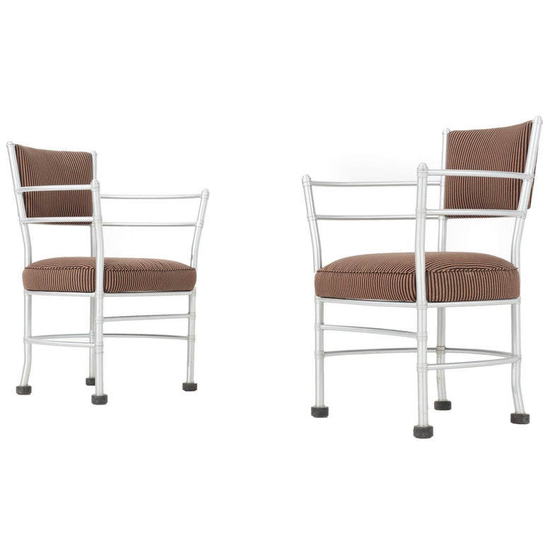Pair of Warren McArthur Aluminium Chairs