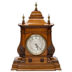 19th Century English Large Mantle Clock with Fusée Movement