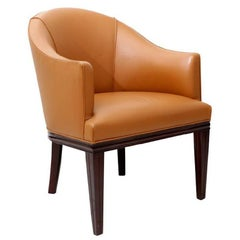 D.I.M Art Deco Mahogany Office Armchair, circa 1930