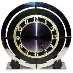 English 1930s Art Deco Modernist Clock