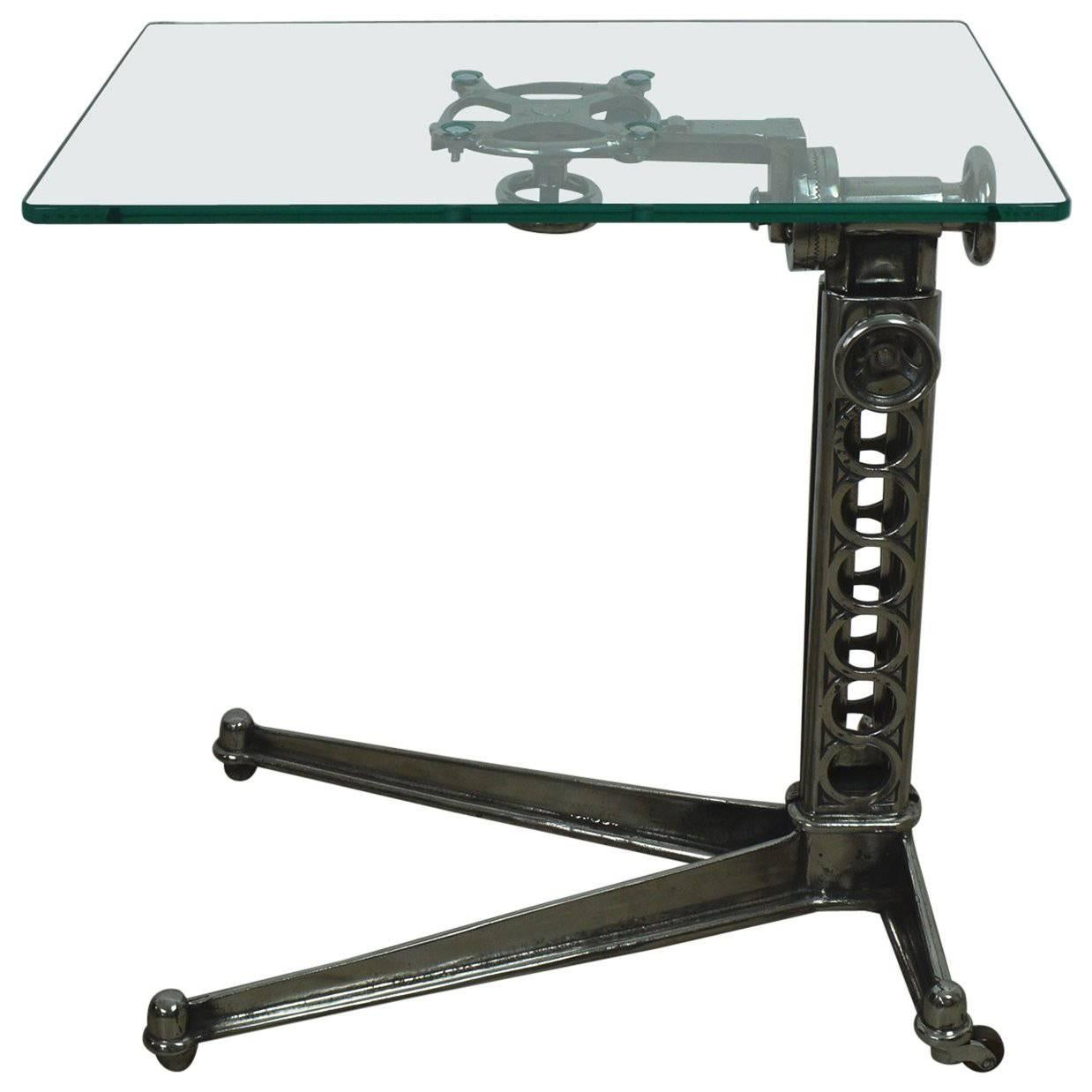 Vintage Industrial Adjustable Work Table, English, 1920s