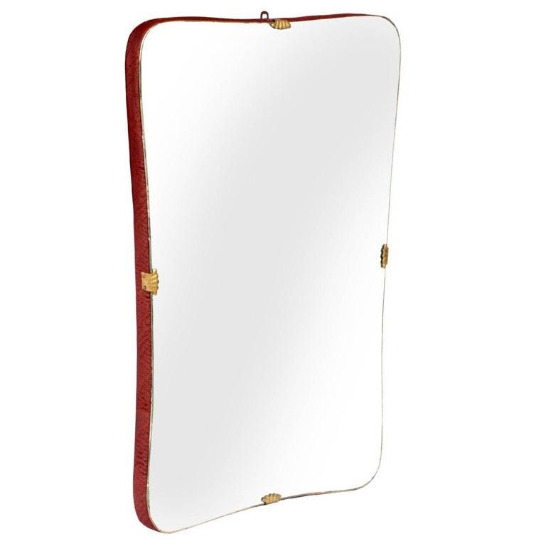Art Deco characteristic Wall Mirror Console Mirror Gio Ponti design attributet