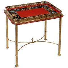 Small Tray Table on a Gilt Stand, English, circa 1880