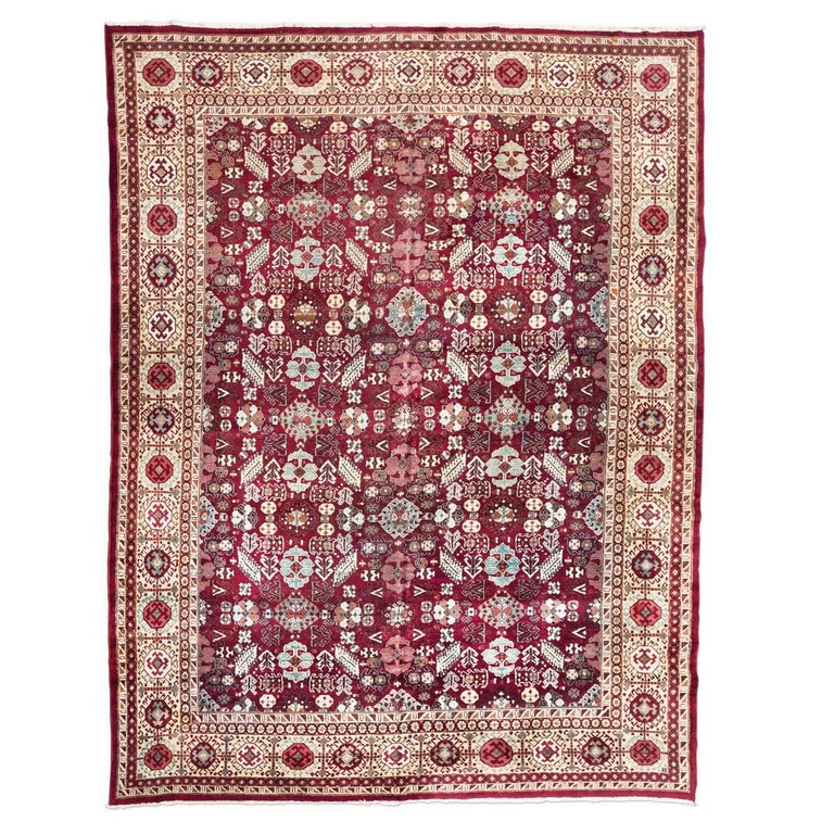 Arts And Crafts Rugs With Exciting Indian Agra Rug Design: Hand Embroidered Phulkari With Silk Stitches From West