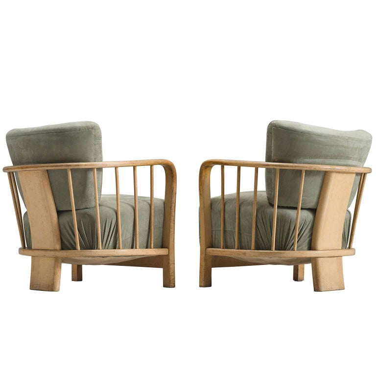 Midcentury Set of Two Sculptural Lounge Chairs For Sale