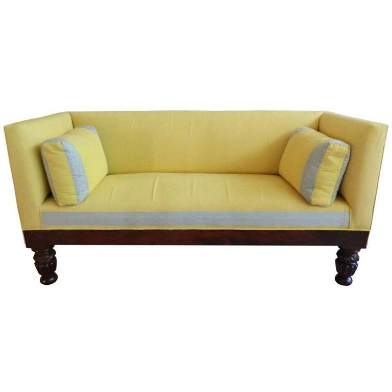 19th Century Clical Box Settee Or Sofa For