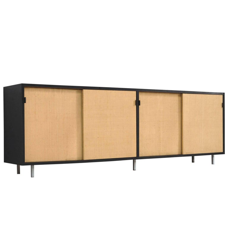 Florence Knoll Seagrass Credenza Designed for Knoll