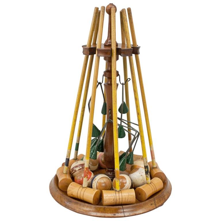 Antique croquet set