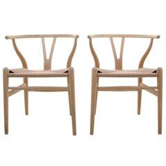 CH24, Wishbone Chairs by Hans J Wegner for Carl Hansen & Son in 1949, Pair