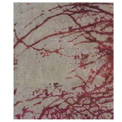 Odyssey 'Armstrong - Amalthea'  Hand-knotted, Wool & Silk, Abstract Rug