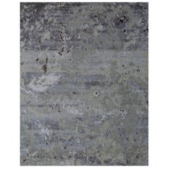 Odyssey 'Slayton - Cere' Hand-knotted, Wool and Silk, Abstract Rug