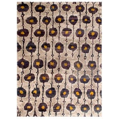 Rumi (Solinka - Sunburst)  Hand-knotted, Natural Silk, Transitional Rug
