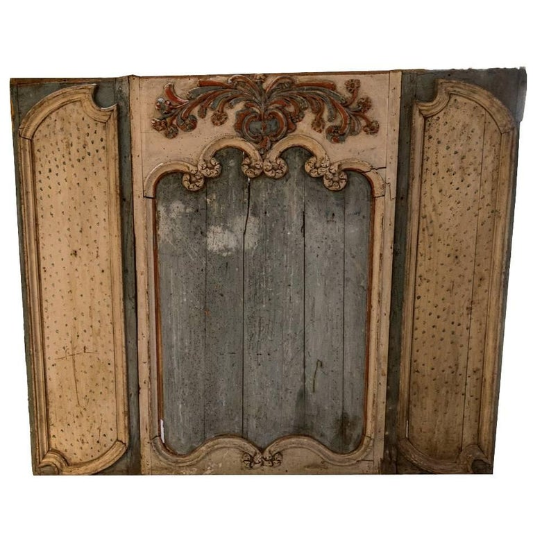18th Century Painted Boiserie Panel For Sale