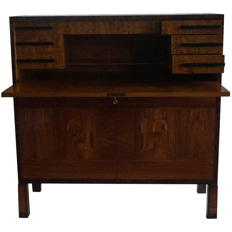 mid 20th century swedish secretaire a b svenska moebel fabrikerna 39 smf 39 for sale at 1stdibs. Black Bedroom Furniture Sets. Home Design Ideas