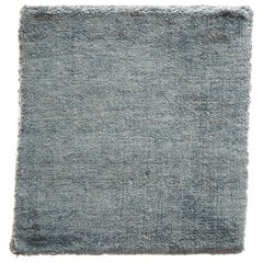 Light Blue Solid Color Hand-Loomed Bamboo Silk Plush Rug