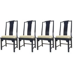 Set of Four Asian High Back Ming Chairs