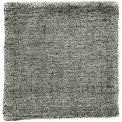 Neutral Grey Rug Hand-Loomed Bamboo Silk Solid Neutral Rug in Any Custom Size