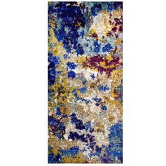 Odyssey 'Aldrin' Hand-Knotted, Wool Silk, Organic Pattern, Abstract Rug