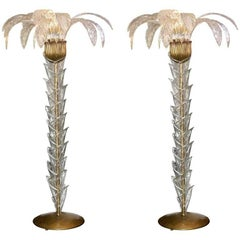 Set of Two Murano Floor Lamps