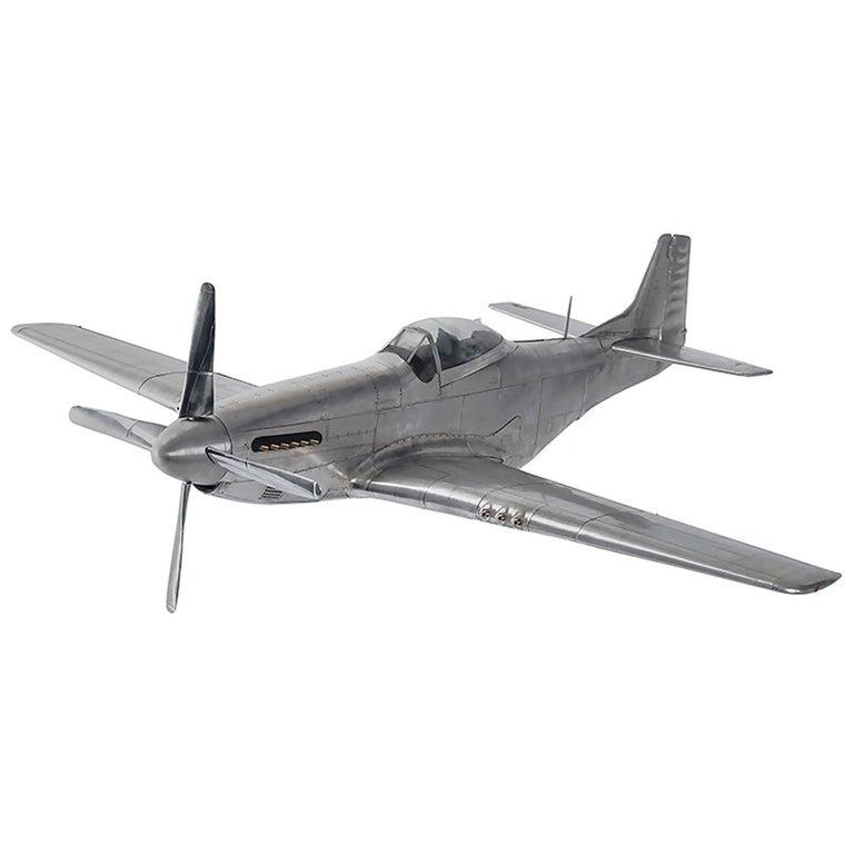 Mustang P51 Aircraft Model in Aluminium Foil For Sale