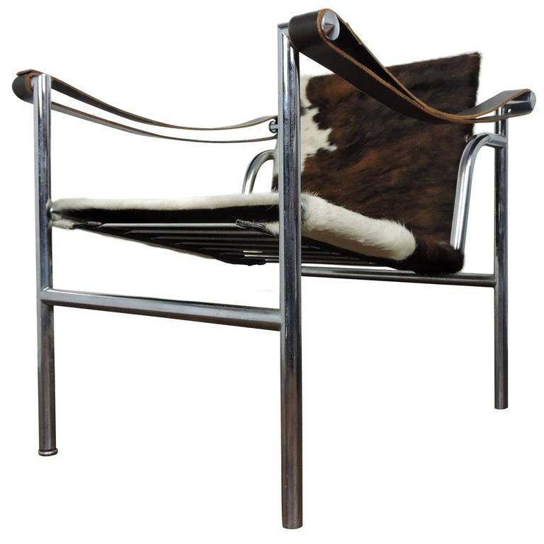 Midcentury Le Corbusier for Cassina Italian Cow-Hide Chair