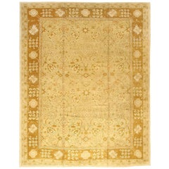 Vintage Turkish Oushak Rug. Size: 14 ft 2 in x 17 ft 6 in (4.32 m x 5.33 m)