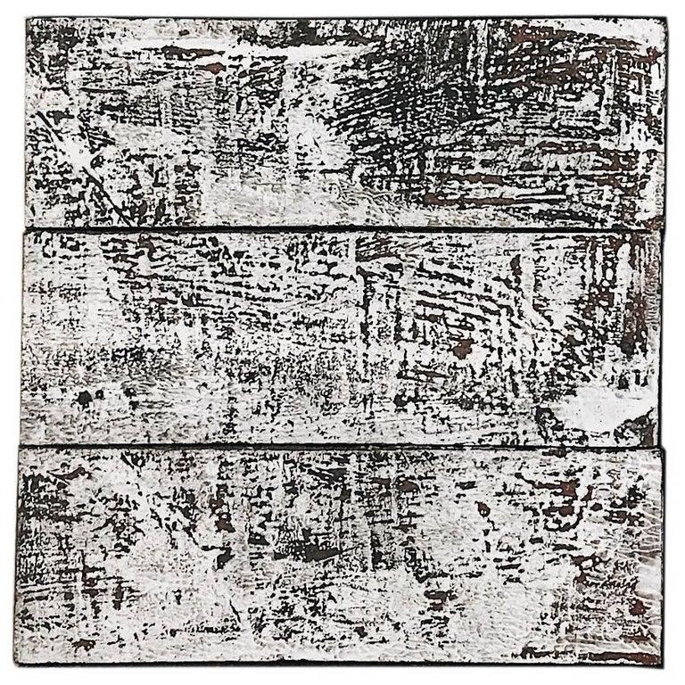 'Ash' Textured Black and White Handmade Ceramic Tile