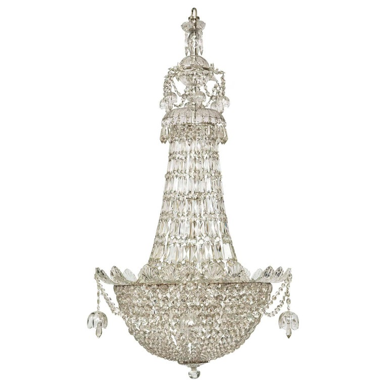 English Louis XVI Style 19th Century Waterford Crystal Chandelier