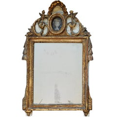 French Late 18th Century Louis XVI Painted and Gilt Mirror, circa 1780