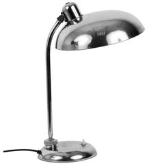 Bauhaus Steel Table Lamp 1940s Industrial, Attributable to Dell, Lighting