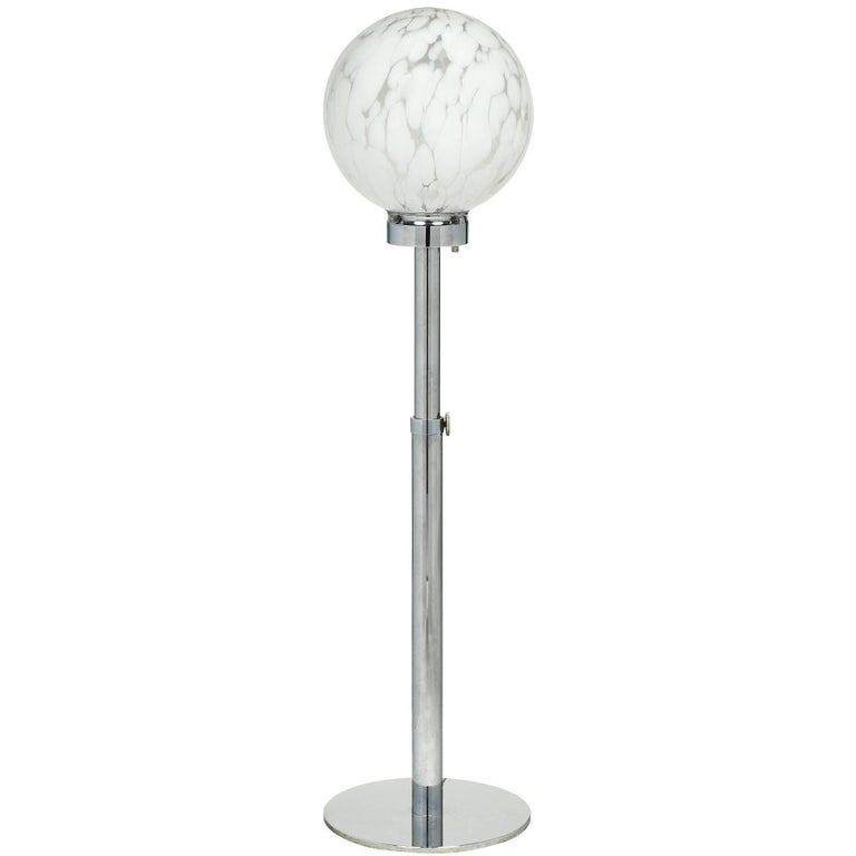 Spherical Italian Murano Glass Floor Lamp