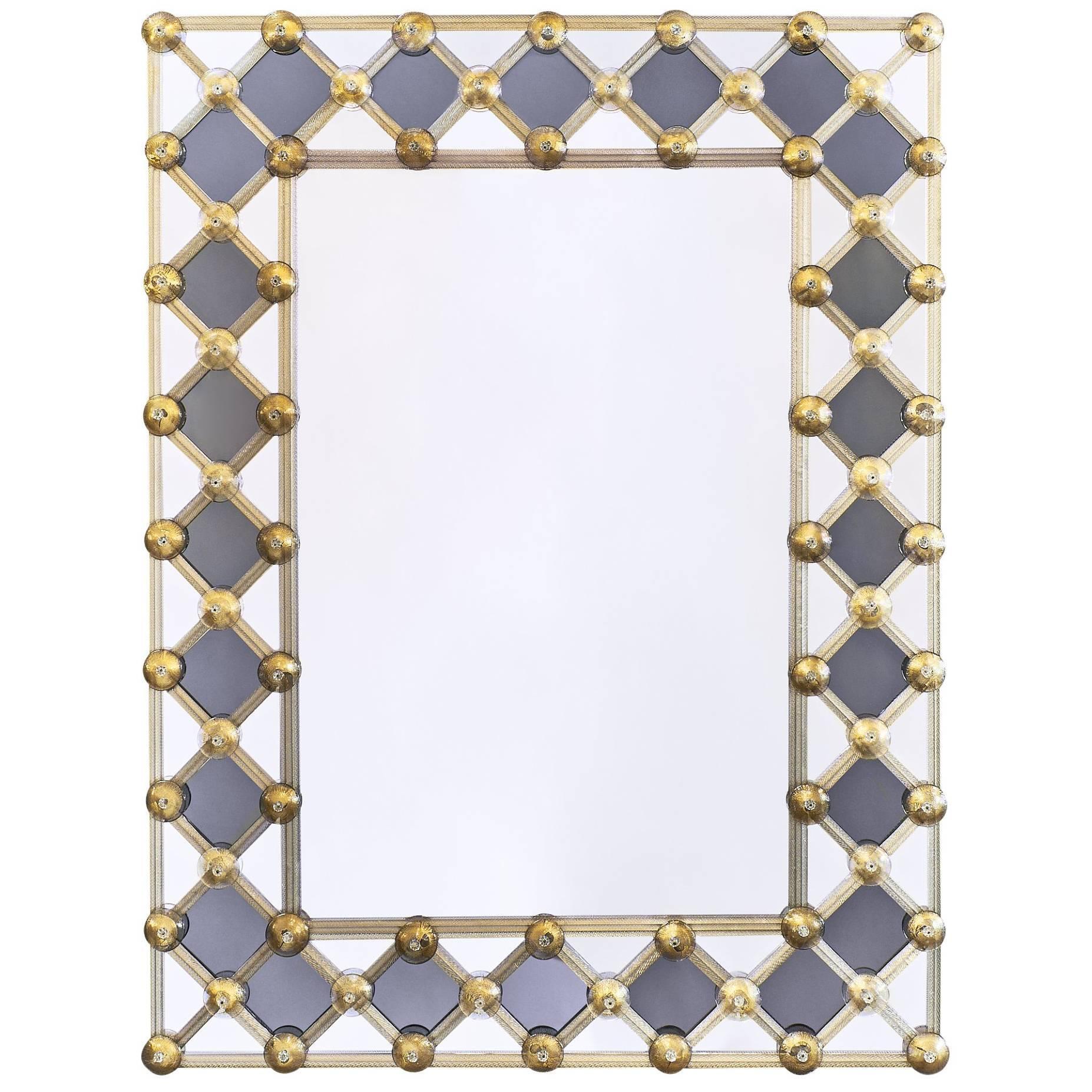 Murano Glass Venetian Mirror by Fuga