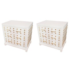 Pair of Opaline Glass Chests of Drawers